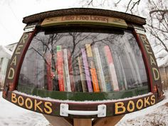 Madison, WI, home to the Little Free Library movement, which has become a mini sensation all over town.Outside their homes, folks post small boxes (sold in local shops), filling them with volumes for passersby to borrow or trade.