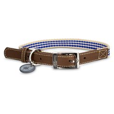 Good2Go+Oxford+Classic+Blue+Striped+Dog+Collar+-+Classic+approach+to+an+oxford+style+collar+for+a+simpler+look+to+your+dog's+collars+and+leashes. - http://www.petco.com/shop/en/petcostore/product/good2go-oxford-classic-blue-striped-dog-collar