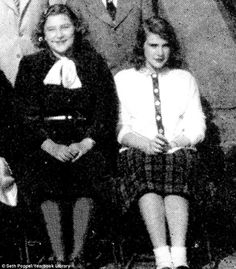 School: This is the yearbook photograph of Joan Rivers from 1948 while she attended the Adelphi Academy in Brooklyn
