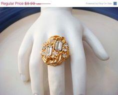 Spring Fashion Sale Vintage Adjustable Gold by PaganCellarJewelry, $7.49