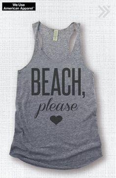 Medium Sale BEACH Please Eco Workout Tank / Fitness Tank / Workout Top