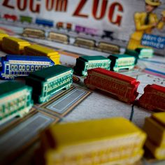 Ticket to Ride, Wooden trains cars, custom meeple, unofficial, collector's set, engraved, wood, Zug um Zug, board game, train
