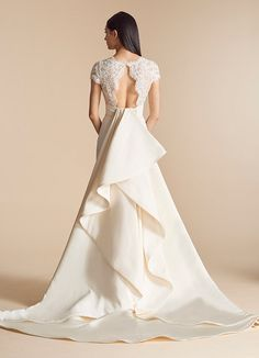 Style 4805 Ashburn Allison Webb bridal gown - Ivory silk faille fit to  flare bridal gown. Bridal OutfitsBridal GownsWedding ... d5e6362f6ac0