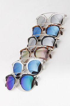 Mirrored Iconic Browline Sunglasses (  Colors)