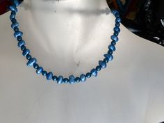 Blue/green fresh water cultered pearls necklace by mizmlu on Etsy