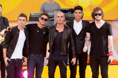LR Nathan Sykes Tom Parker Max George Siva Kaneswaran and Jay McGuiness of The Wanted perform on ABC's 'Good Morning America' at Rumsey Playfield on...