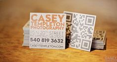 square QR code business card.