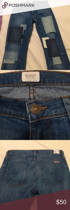 Hudson Elle Baby Boot Super fun jeans in EUC! Open to offers and trades. Hudson Jeans Jeans Boot Cut