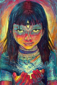 Seeing through the third eye is something that sparkles the interest of many. See the visions one could get with an open third eye. Art Inspo, Kunst Inspo, Inspiration Art, Art And Illustration, Psychedelic Art, Art Visionnaire, Psy Art, Visionary Art, Third Eye