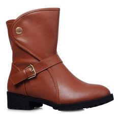 Fashion Boots, Fashion Clothes, Fashion Outfits, Boot Types, Fashion Today, Short Boots, Toe Shape, Belt Buckles, Pu Leather