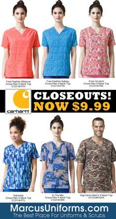 d9a43ca9b6b Clearance Sale On Carhartt Scrub Prints! Cute Scrubs, Carhartt, Clearance  Sale, Button