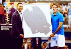Will Smith & Roger Federer. #tennis #ATP