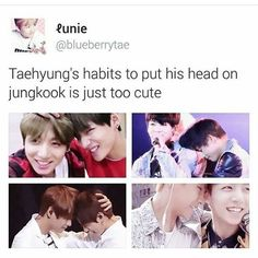 TAEKOOOK is so caaruttee ❤ #BTS #방탄소년단
