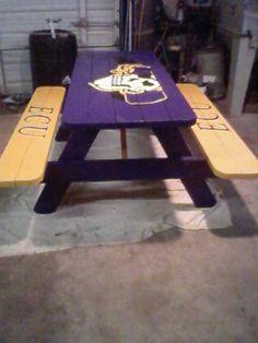ECU Pirates picnic table