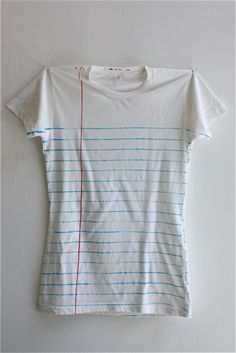 Loose leaf paper t-shirt - every teacher needs one of these to illustrate the correct way to head a paper.