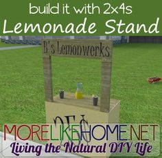 Build a lemonade stand out of 2x4s with MoreLikeHome.net. Plus Lowes / Home Depot gift cards giveaway!