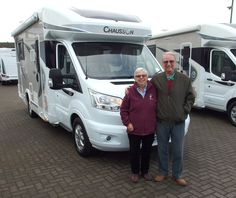Roger & Jackie from Margate Kent, have just traded their 2016 Chausson 620 Welcome, for the All New Chausson 628 Titanium on the Ford Chassis with 'automatic' Transmission as standard.  We are grateful to Roger & Jackie for their continued support, and wish them well in their innovative, New Chausson. Styrofoam Insulation, Margate Kent, Automatic Transmission, Fiat, Motorhome, Welcome, Recreational Vehicles, The Twenties, Grateful