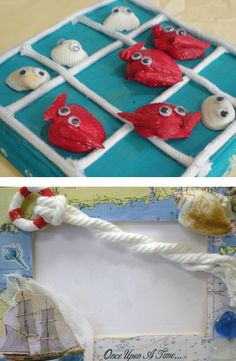 Crab Tic Tac Toe Game and Other Fun Summertime Crafts Crab Crafts, Bird Crafts, Nature Crafts, Crafts For Kids To Make, Diy Projects To Try, Art Birthday, Birthday Parties, Ocean Theme Crafts, Tic Tac Toe Game