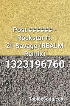 rockstar 21 savage roblox id