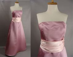 $32.00 Blank Slate as-is. 90s Pink Strapless Bridesmaid Prom Gown OR Customizable Zombie Prom Queen Halloween Costume. oPTIONAL BLOOD. size S 6 by wardrobetheglobe on Etsy