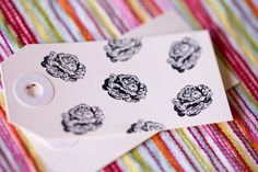 Mini Stamp Lettuce Head - 1 inch x .5 inch stamp - hand drawn lettuce head of lettuce - produce & farm branding - lettuce stamp by AuthenticHeirloomsCo