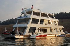 3 Story Houseboat