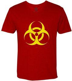 BioHazard (Yellow) Short-Sleeve V-Neck T-Shirt