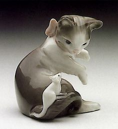 LLADRO - CAT AND MOUSE