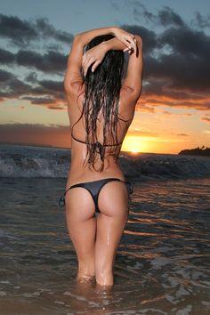 Sunset at the beach ..,