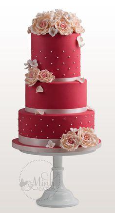 Rubi bolo de casamento vermelho