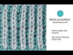 P. Inglés 2 Colores Fácil - Easy 2 Color Brioche Stitch - YouTube