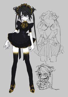 晶 on in 2020 Character Concept, Character Art, Concept Art, Fan Art Anime, Anime Art Girl, Oc Manga, Manga Art, Character Design References, Character Design Inspiration