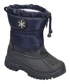 Navy Snowflake Duck Boot