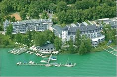 Hotel Schloss Seefels, Pörtschach, Carinthia, Austria Location, Austria, Golf Courses, Places To Visit, River, Mansions, House Styles, Outdoor, Switzerland