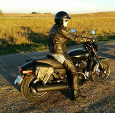 Harley-Davidson Street Canadian Female rider. Fall ride near sunset on the Saskatchewan prairies on Harley-Davidson Street 750 set up for highway riding. This is me actually...😎