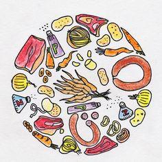 Teken het eten: hutspot