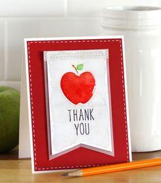 Apple Thank You Card // Teacher Crafts