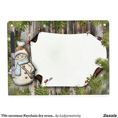 THe snowman Keychain dry erase board