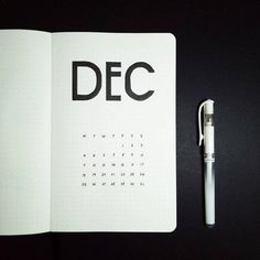 Bullet journal monthly cover page, December cover page, minimalist bullet journal cover page. @littleredhoodie_