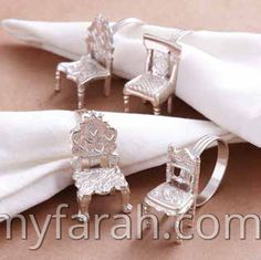 Gift Boxed: Dolls Chair Napkin Rings * 6 Sets of Items Shown Best Wedding Suits, Trendy Wedding, Wedding Gifts, Wedding Photography Props, Silver Napkin Rings, Wedding Rings Simple, Wedding Table Settings, Linen Napkins, Inspirational Gifts