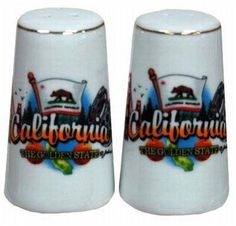 California Salt & Pepper Set- Elements Case Pack 48