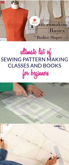Ultimate List of Online Sewing Pattern Making Classes & Books