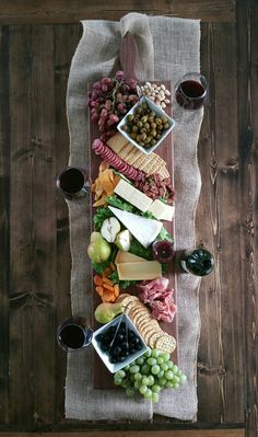 42 Inch- Extra Large Wooden Serving Platter- Cheese Board- in Oak- by Red Maple Run- Cutting Board- Gift for Foodie Extra large serving platter. Use it as a cheese board. Dress it up with some fruit. Wooden Serving Platters, Food Platters, Cheese Platters, Appetizer Recipes, Appetizers, Keto Recipes, Charcuterie And Cheese Board, Cheese Board Display, Cheese Boards