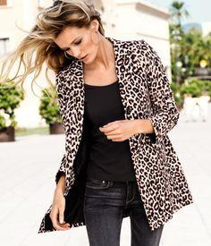 Leopard coat cotton