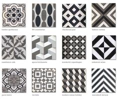 moroccan tile encaustic cement tile black white grey cletile.com -- cool tile resource