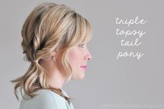 The Small Things Blog: Triple Topsy Tail Pony Tutorial