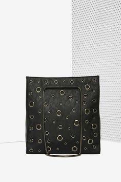 Nasty Gal x Nila Anthony Holed Up Studded Tote Bag