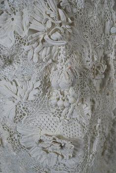 Antique C 1900 Lavish Irish Hand Crochet Blouse picture