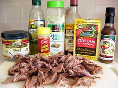 Tri-Tip in ht e Crock Pot - so easy and so yummy! I make sandwiches with it and add cheese and pepers on french bread!
