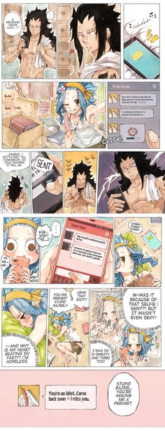 prompt #1 - selfie / sext Gajeel's text was inspired by this, it felt Gajeel-ish to me so this was born. Also if anyone is wondering, he's out on a job, that's why he didn't just go and help Levy, lol. by Rboz   sketchy ✖ flavor